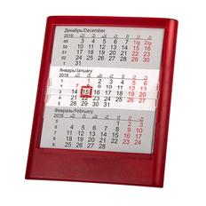 Календарь настольный на 2 года , прозрачно-красный, 12,5х16 см фото