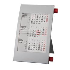 Календарь настольный на 2 года, красный/ серый фото