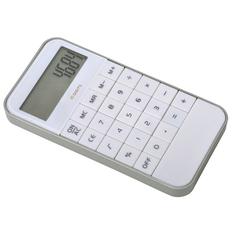 Калькулятор пластиковый 5,8х11,5х1см, белый фото
