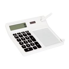Калькулятор Экономист с мемо-панелью, белый фото