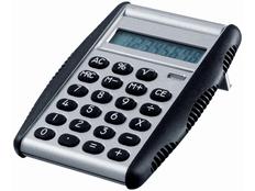 Калькулятор 8 разрядов с крышкой, черный, серый фото
