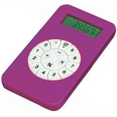 Калькулятор с цифрами по кругу, фиолетовый фото