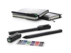 Ручка роллер пластиковая Moleskine Plus, черная фото