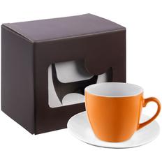 Кофейная пара Refined в подарочной упаковке, оранжевая фото
