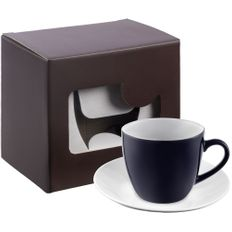 Кофейная пара Refined в подарочной упаковке, темно-синяя / белая фото