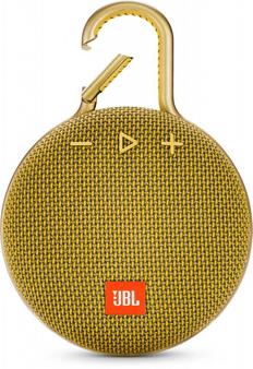 Колонка портативная Jbl Clip 3, желтая, 1000 mAh фото