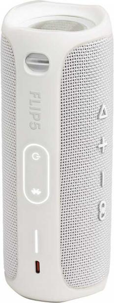 Колонка портативная Jbl Flip 5, белая, 4800 mAh фото