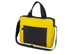 Конференц сумка для документов Congress, чёрно-жёлтая фото