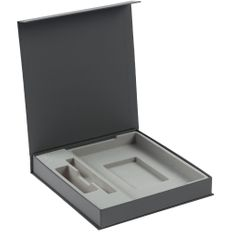 Коробка Arbor под ежедневник, аккумулятор и ручку, серая фото