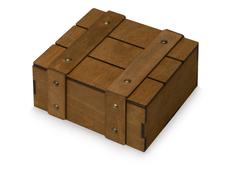 Коробка деревянная Quadro, темное дерево фото