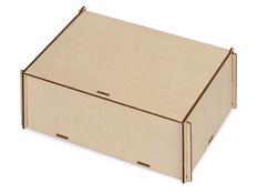 Коробка деревянная с наполнителем-стружкой Ларь, светлое дерево фото