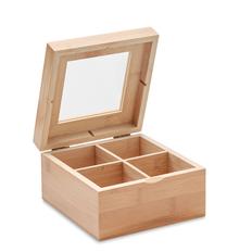 Коробка для чая Campo Tea, светлое дерево фото