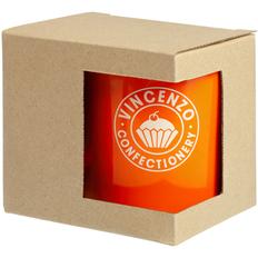 Коробка для кружки с окошком, крафт фото