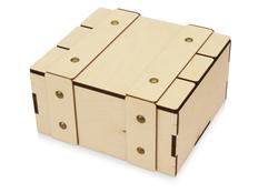 Коробка подарочная деревянная с крышкой Ларчик, светлое дерево фото