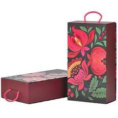 Коробка подарочная Калинка, складная с ручкой, 31,5х18х8 см, кашированный картон, тиснение фото