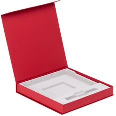 Коробка подарочная под ежедневник и ручку Memoria, красная фото