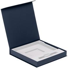 Коробка подарочная под ежедневник и ручку Memoria, синяя фото