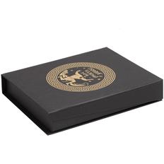 Коробка «Подвиг каждый день», черная / золотистая фото