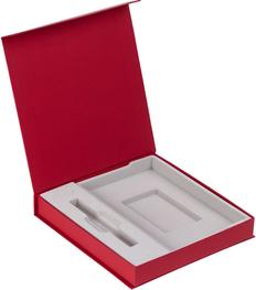 Коробка с ложементом под ежедневник и ручку Arbor, красная фото
