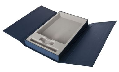 Коробка Three Part под ежедневник, флешку и ручку, синяя фото