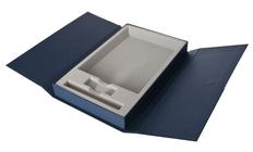 Коробка Triplet под ежедневник, флешку и ручку, синяя фото