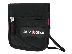 Кошелек на шею Swissgear, черный/ красный фото