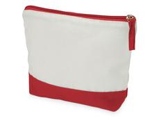 Косметичка хлопковая Cotton, белая/красная фото