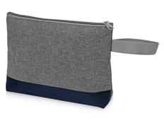 Косметичка Trivium, серая/синяя фото
