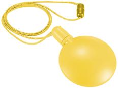 Диспенсер для мыльных пузырей круглый, желтый фото