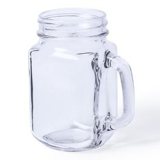 Кружка-банка стеклянная MELTIK, прозрачный фото