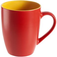 Кружка Bright Tulip, матовая, красная с желтым фото