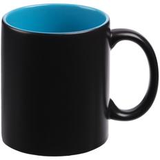 Кружка-хамелеон матовая On Display, 330 мл, голубая / черная фото