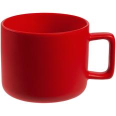 Кружка Jumbo матовая, красная фото