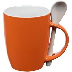 Кружка с ложкой Molti Cheer Up ver.2, оранжевая фото