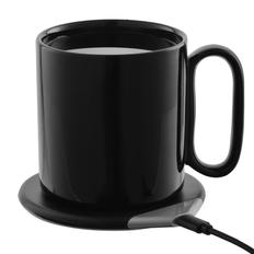 Кружка с подогревом и беспроводной зарядкой DualBase, черная фото