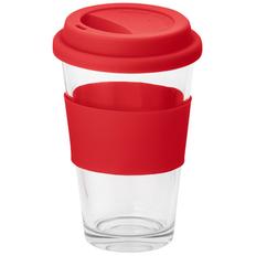 Кружка стеклянная Barty, 330 мл, красная фото