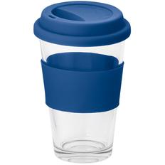 Кружка стеклянная Barty, 330 мл, синяя фото