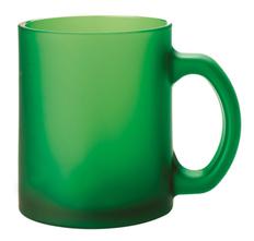 Кружка стеклянная матовая Foggy, зеленая фото