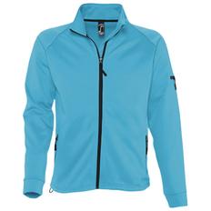 Куртка флисовая мужская Sol's New Look Men 250, бирюзовая фото
