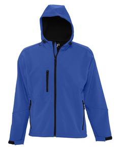 Куртка с капюшоном мужская Sol's Replay Men 340, ярко-синяя фото