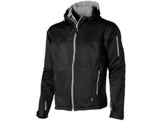 Куртка софтшел мужская Slazenger Match, черная/ средне-серая фото