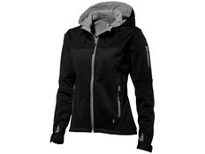 Куртка софтшел женская Slazenger Match, черная/ средне-серая фото