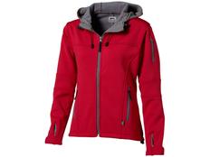 Куртка софтшел женская Slazenger Match, красная/ серая фото