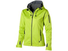Куртка софтшел женская Slazenger Match, серая/ зеленая фото