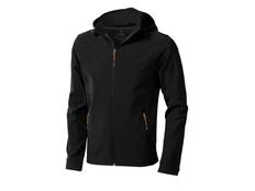 Куртка софтшел мужская Elevate Langley, черная фото