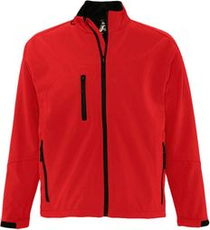 Куртка софтшел мужская Sol's Relax 340, красная фото