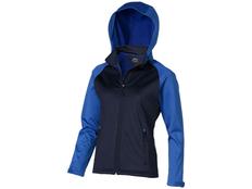 Куртка софтшел женская Slazenger Сhallenger, синий/ голубой фото