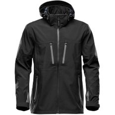Куртка софтшелл с водонепроницаемыми молниями мужская Stormtech Patrol, черная/ серая фото