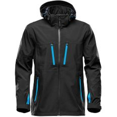 Куртка софтшелл с водонепроницаемыми молниями мужская Stormtech Patrol, черная/ синяя фото