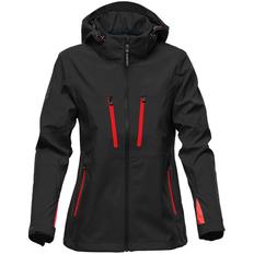 Куртка софтшелл с водонепроницаемыми молниями женская Stormtech Patrol, черная/ красная фото